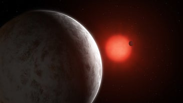 Two super-Earth exoplanets orbit Gliese 887, 11 light years from Earth.
