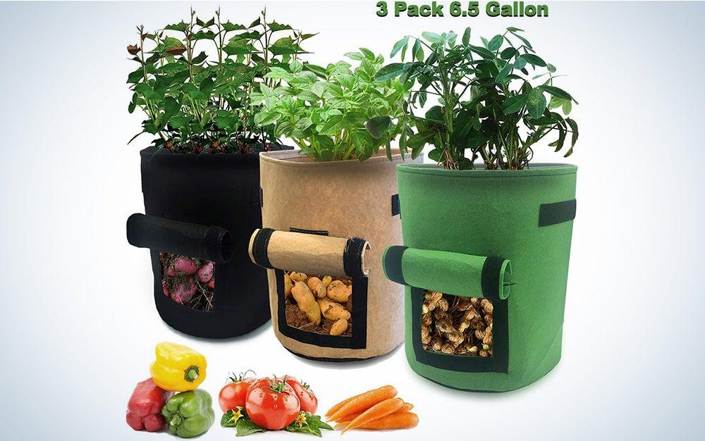 Nicheo 3 Pcs 6.5 Gallon Garden Boxes