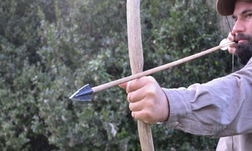 How to build your own bow and arrows when you're lost in the wild
