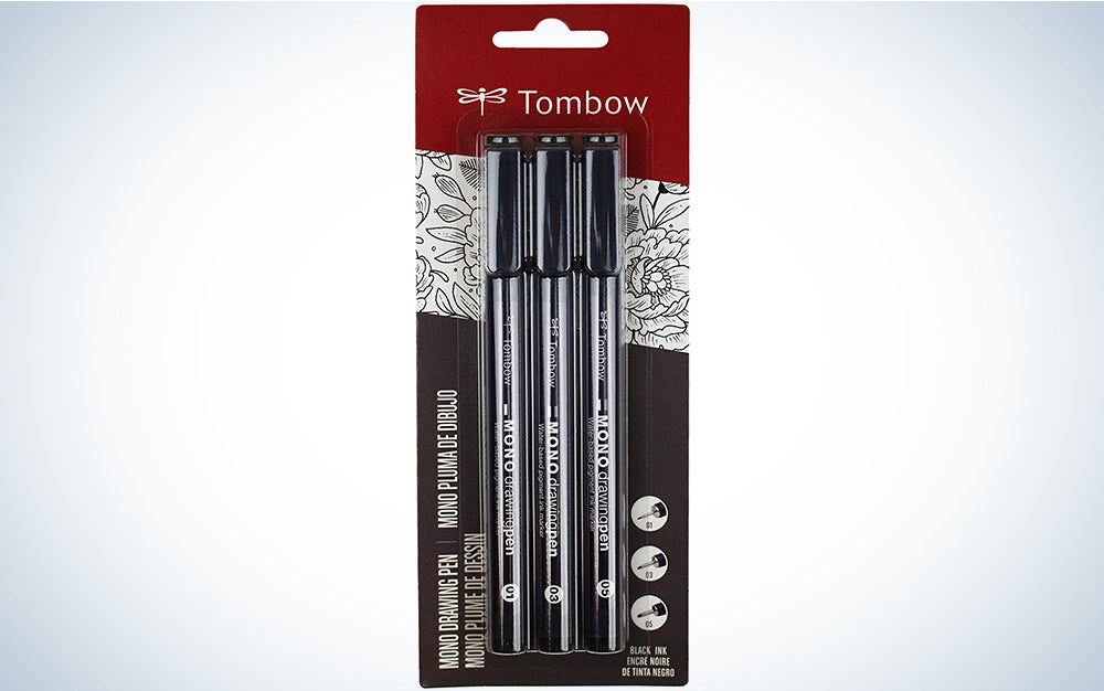 Tombow 66403 MONO Drawing Pen, 3-Pack. Create Precise, Detailed Drawings with Three Tip Sizes