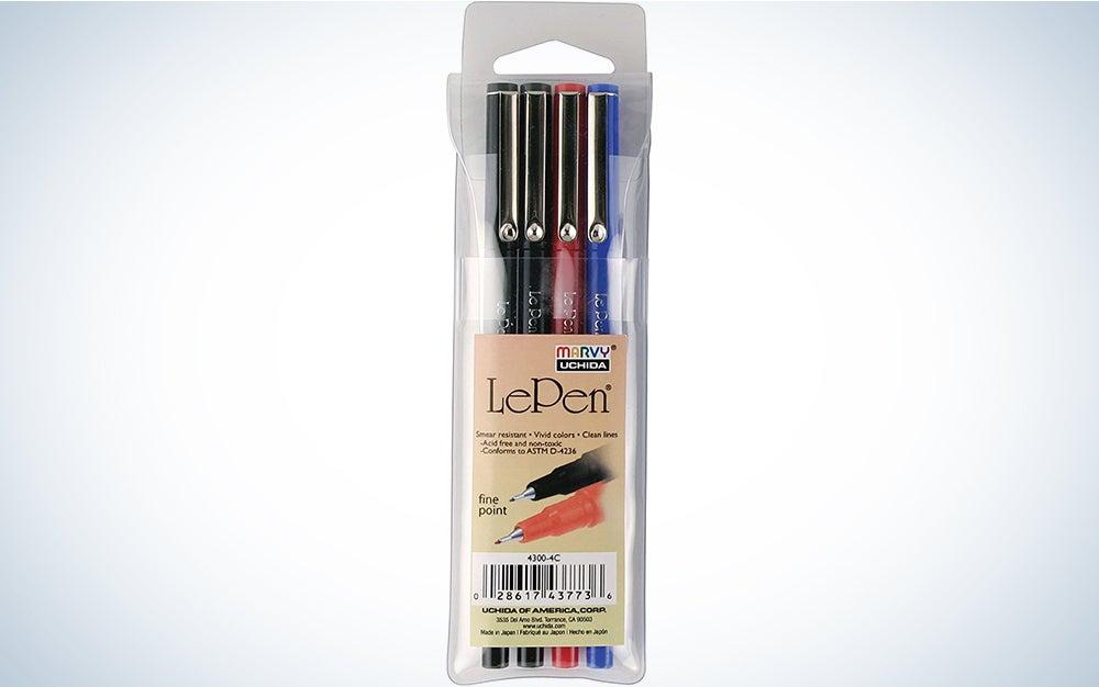 Le Pen .03mm Point Set 4/Pkg-Basic