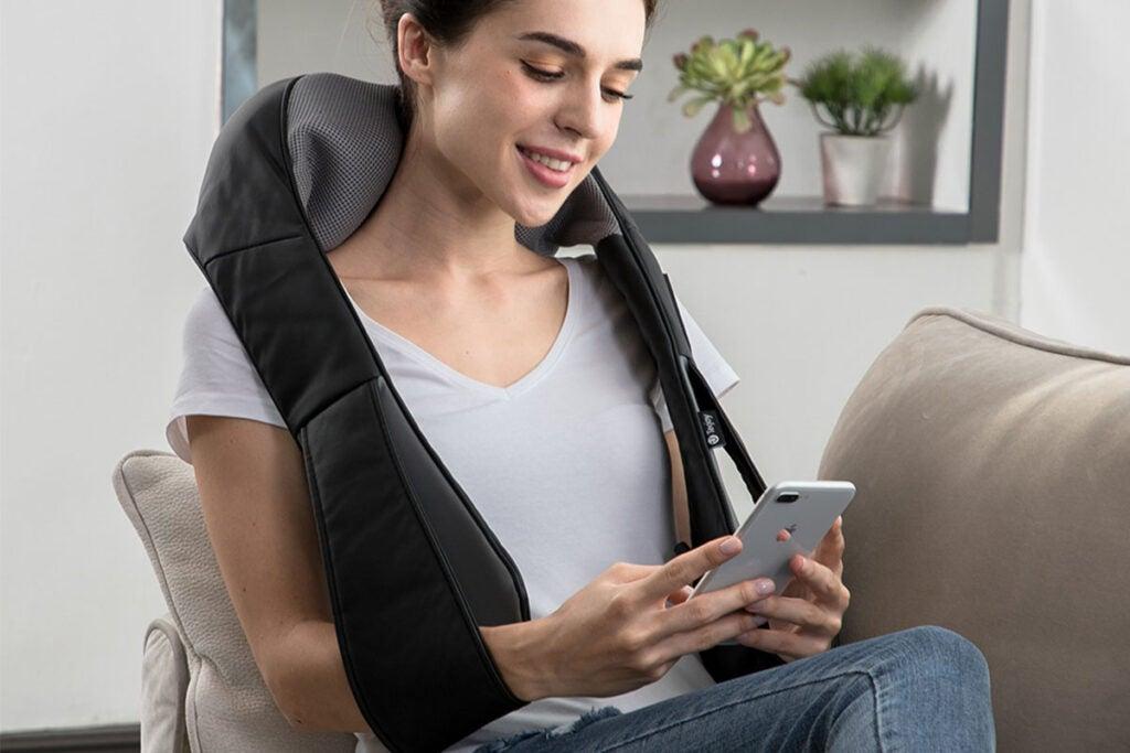 Tekjoy Shiatsu Kneading Massage Pillow
