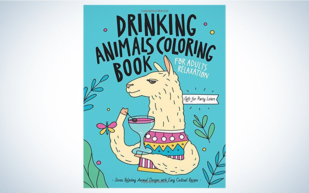 Drinking Animals Coloring Book, by Caffeinstar Publishing