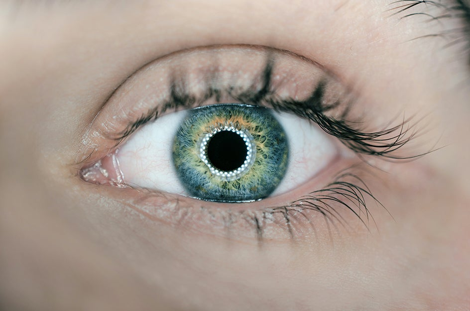 eyeball with ring light reflection