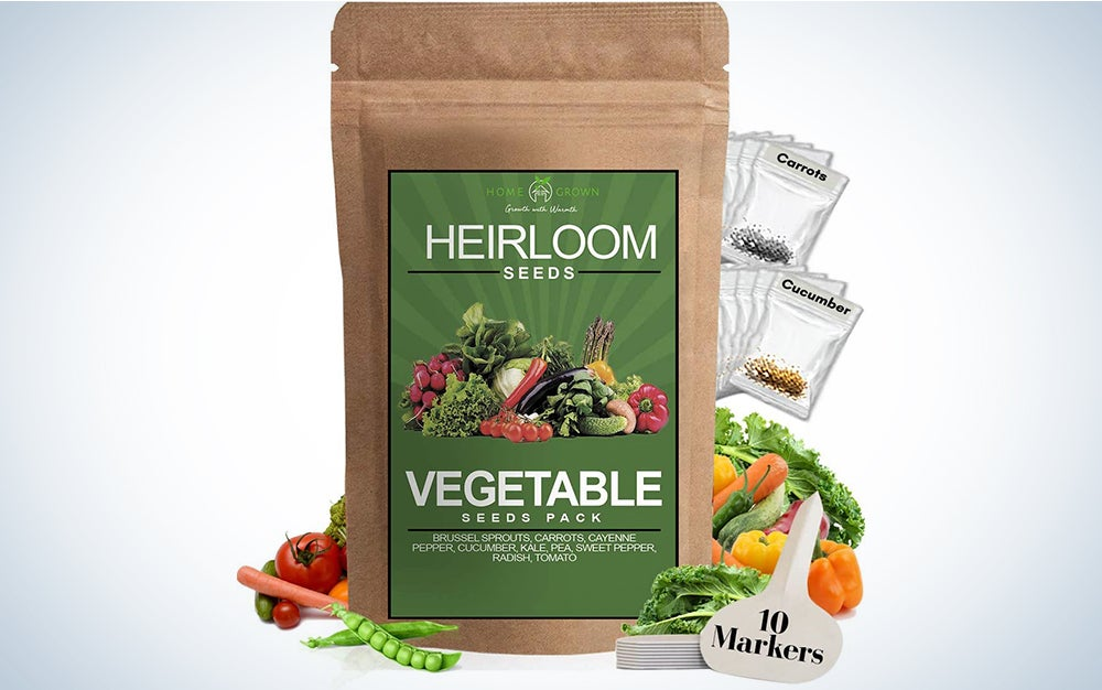 Heirloom Vegetable Seeds -10 Variety - Non GMO Vegetable Seeds