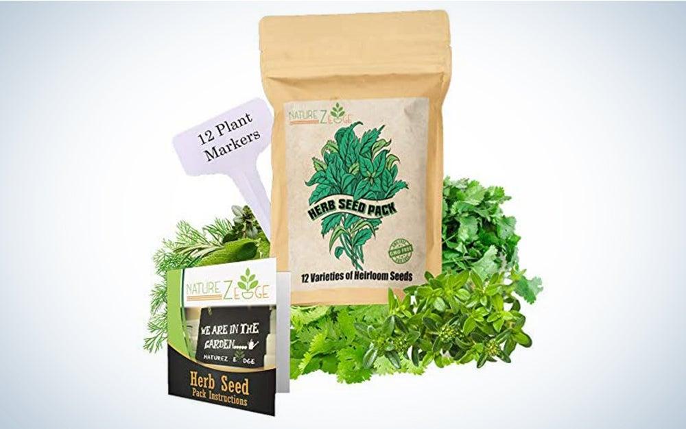 NatureZ Edge Heirloom Herb Seeds Variety Pack