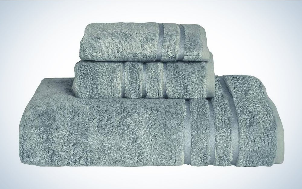 Cariloha 600 GSM Bamboo & Turkish Cotton 3 Piece Towel Set