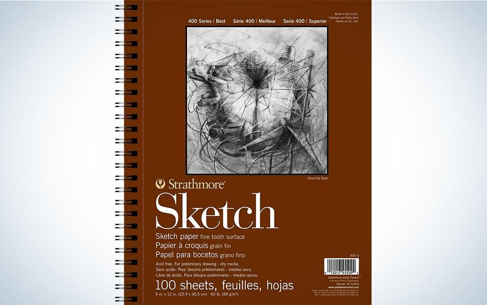 Strathmore 455-3 400 Series Sketch Pad, 9″x12″