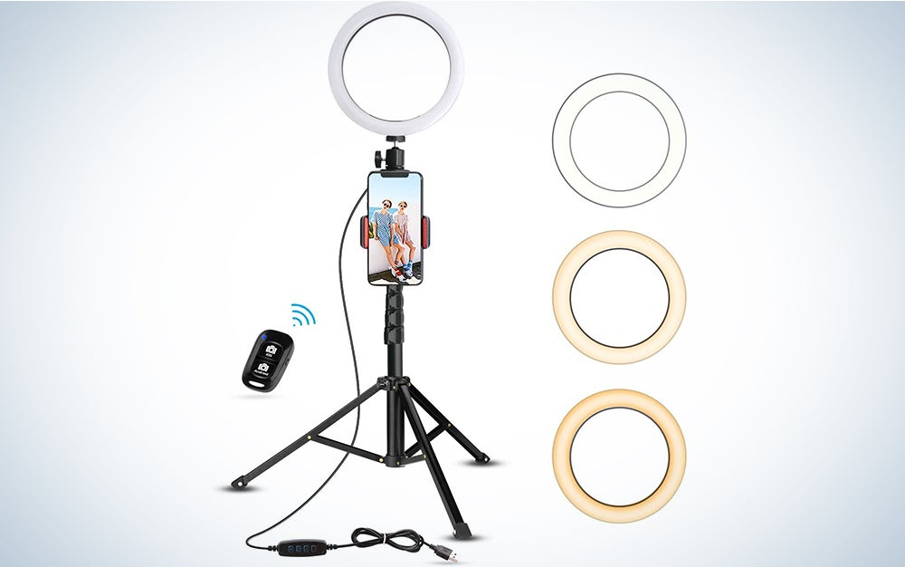 8-Inch Selfie Ring Light with Tripod Stand & Cell Phone Holder