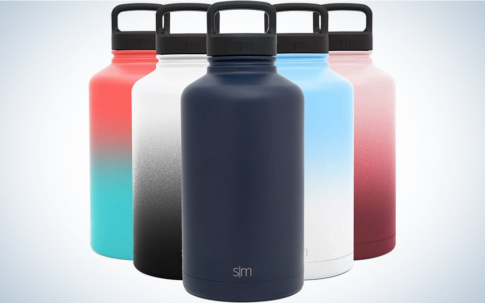 Simple Modern Water Bottle Reusable Summit Wide Mouth Stainless Steel Thermos Flask, 64oz Handle Lid