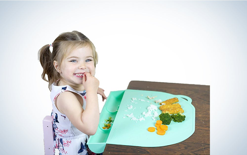 UpwardBaby Mint Silicone Placemats for Kids Babies and Toddlers