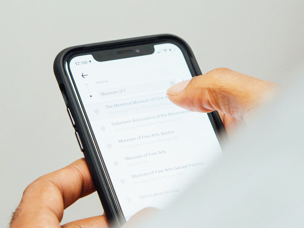 a person using their phone to search for things