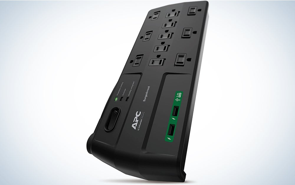 APC Surge Protector with USB Ports, P11U2, 2880 Joule, 6' Cord, Flat Plug, 11 Outlet Power Strip Black