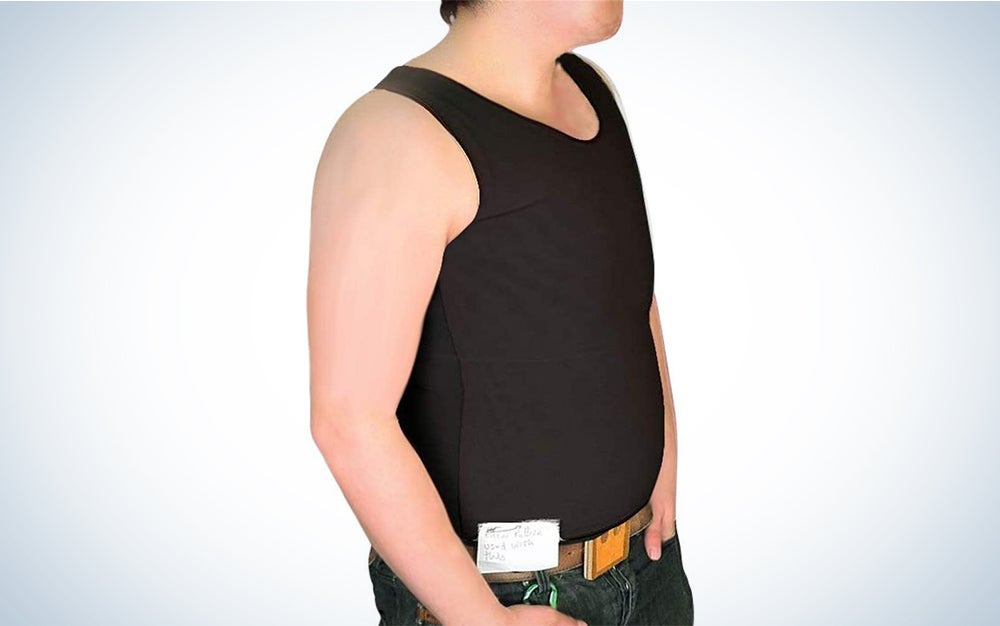 Tranz Forms Chest Binder for Men   at Surgical Powernet High-Quality Sleeveless Black FTM Binder with Double Panel Front