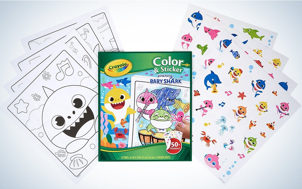 Crayola Baby Shark Coloring Pages & Stickers