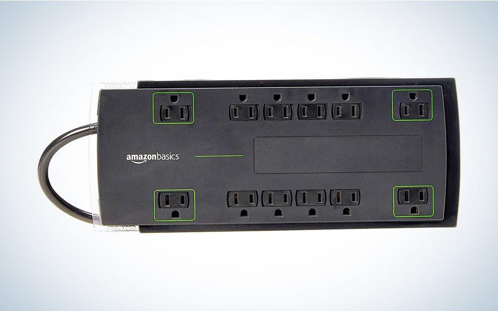 AmazonBasics 12-Outlet Power Strip Surge Protector