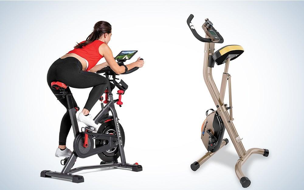 two exercise bikes