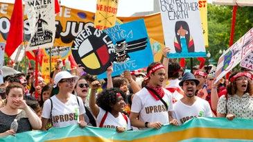 protestors of pipelines