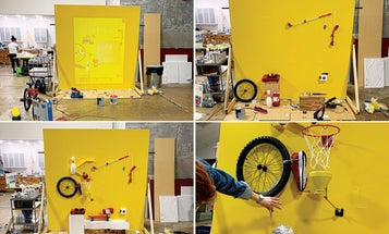 Behind the scenes of our summer cover, a working Rube Goldberg machine