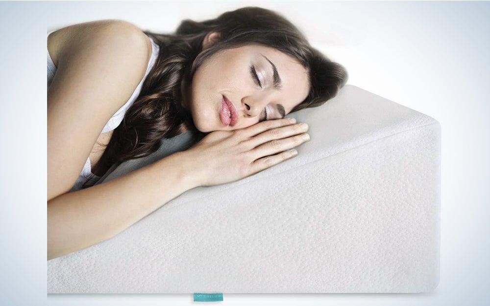 VivaLife Bed Wedge Pillow Gel Memory Foam Top