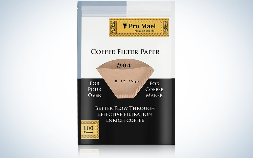 #4 Cone Coffee Filters Paper Disposable for Pour Over and Drip Coffee Maker
