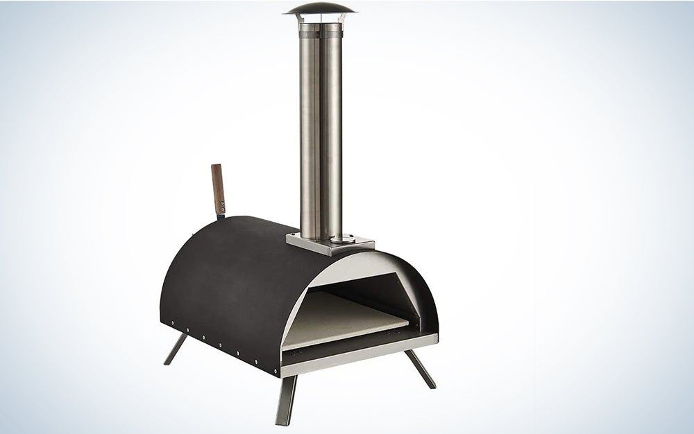 GRILIFE Outdoor Pizza Oven Wood fire Pizza Oven Portable Pizza Oven Pizza Maker for Home Garden Balcony Black