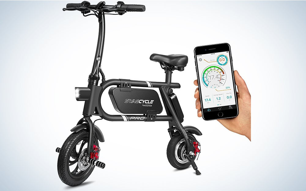 SwagCycle Pro Folding Pedal Free and App Enabled Electric Bike,
