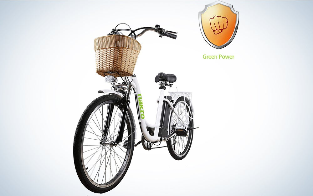 Nakto 26-Inch City Electric Bicycle and Assisted Bicycle for Men with Removable 36V 10A Large Capacity Lithium Battery and Charger