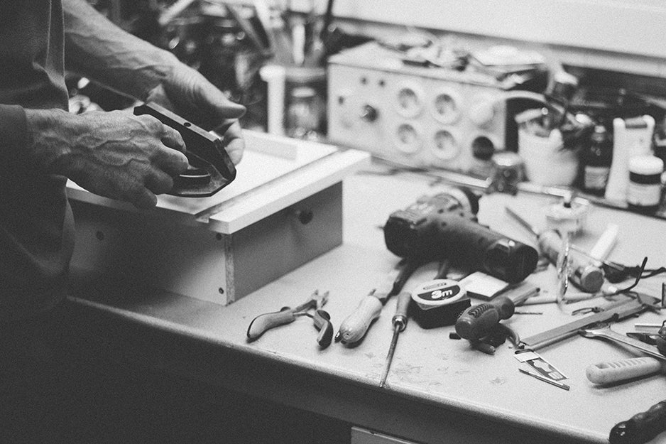 person working with tools