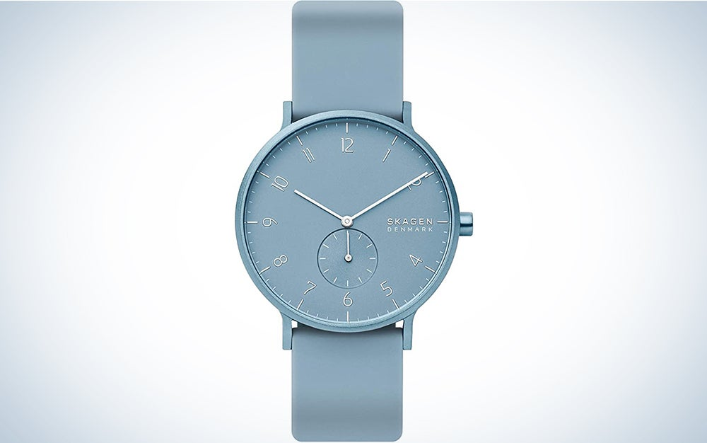 Skagen Aaren Colored Silicone Quartz Minimalistic Watch