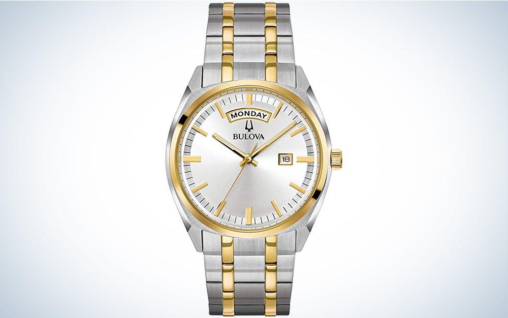 Bulova Two-Tone Watch With Strap