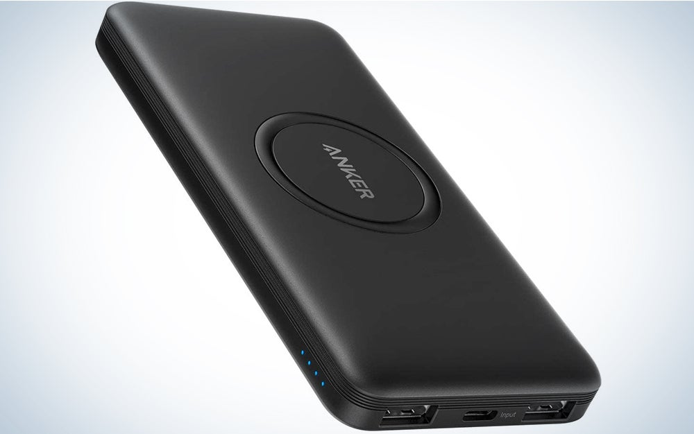 Anker Wireless Power Bank, PowerCore 10,000mAh Portable Charger with USB-C (Input Only), External Battery Pack Compatible with iPhone 12, Mini, Pro, Pro Max, Samsung, iPad 2020 Pro, AirPods, and More
