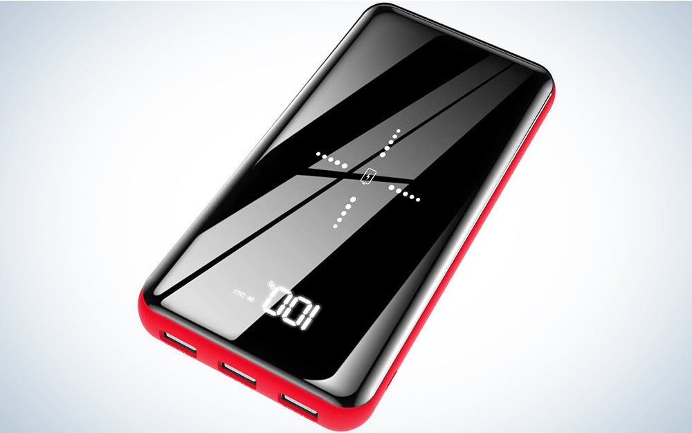 Wireless Portable Charger Power Bank 25000mAh - High Capacity with LCD Digital Display,3 USB Output & Dual Input External Battery Pack Compatible Smart Phones,Android Phones,Tablet and Other Devices
