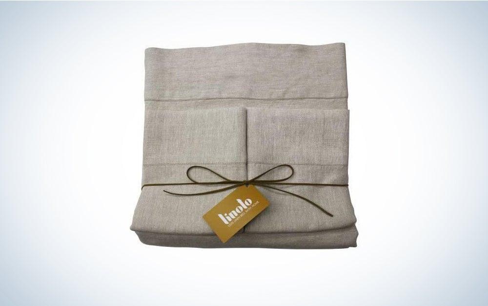 Linoto 100% Pure Belgian / Italian Flax Linen Bed Sheet Set