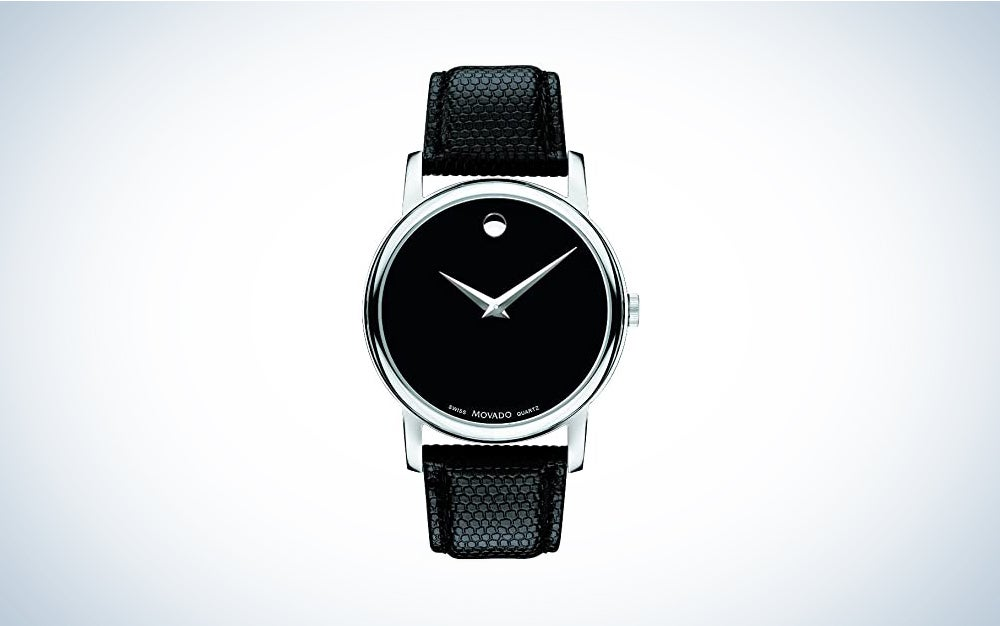 Movado Museum Black Stainless Steel Watch