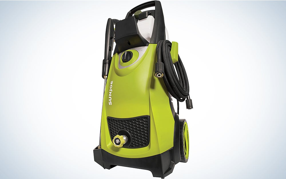 Sun Joe SPX3000 2030 Max PSI 1.76 GPM 14.5-Amp Electric High Pressure Washer, Cleans Cars/Fences/Patios