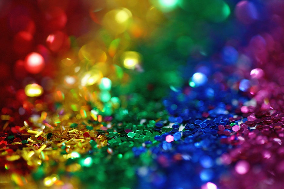 rainbow of glitter