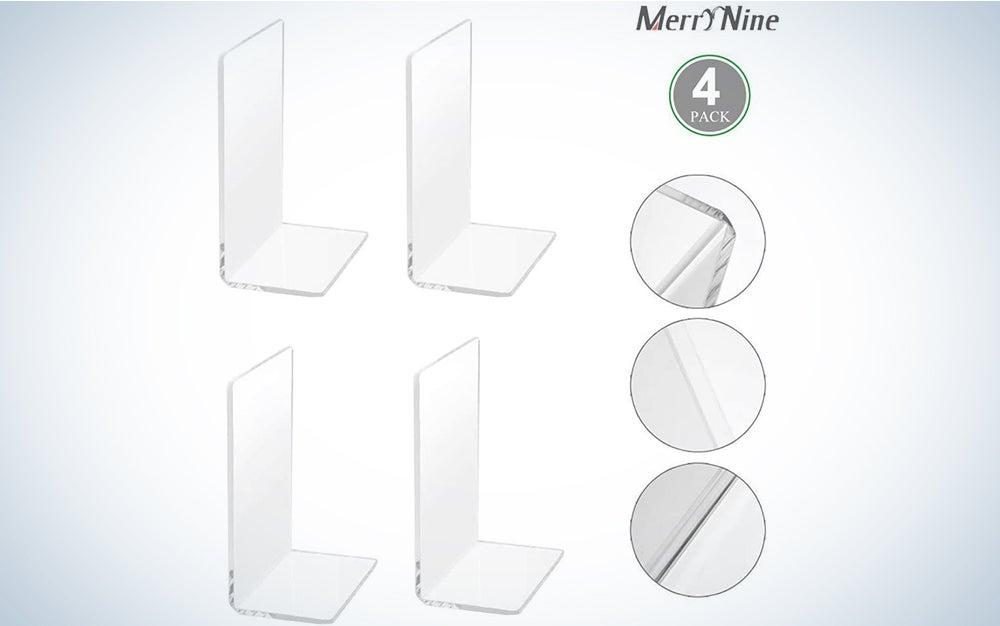 MerryNine Plastic Acrylic Bookends