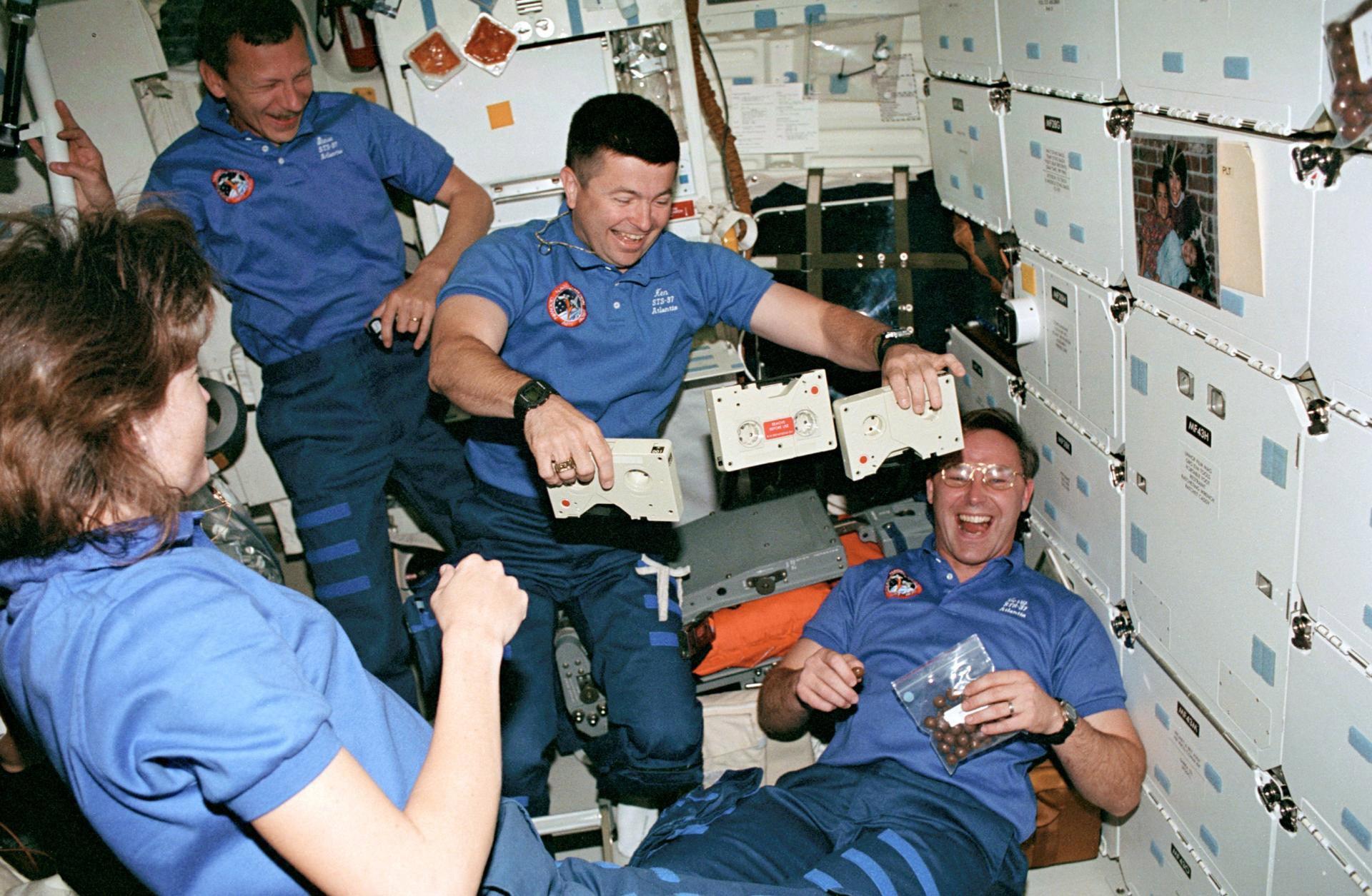 Astronauts having fun