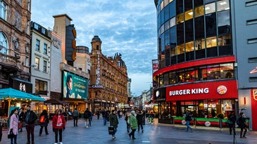 burger king on london street