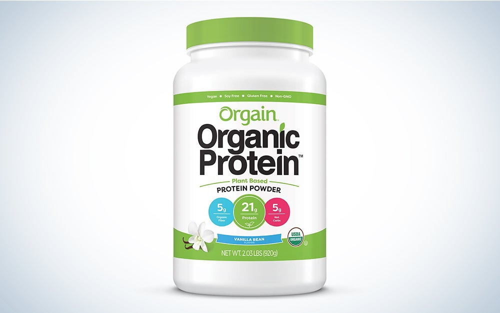 Orgain Organic Plant Based Protein Powder, Vanilla Bean