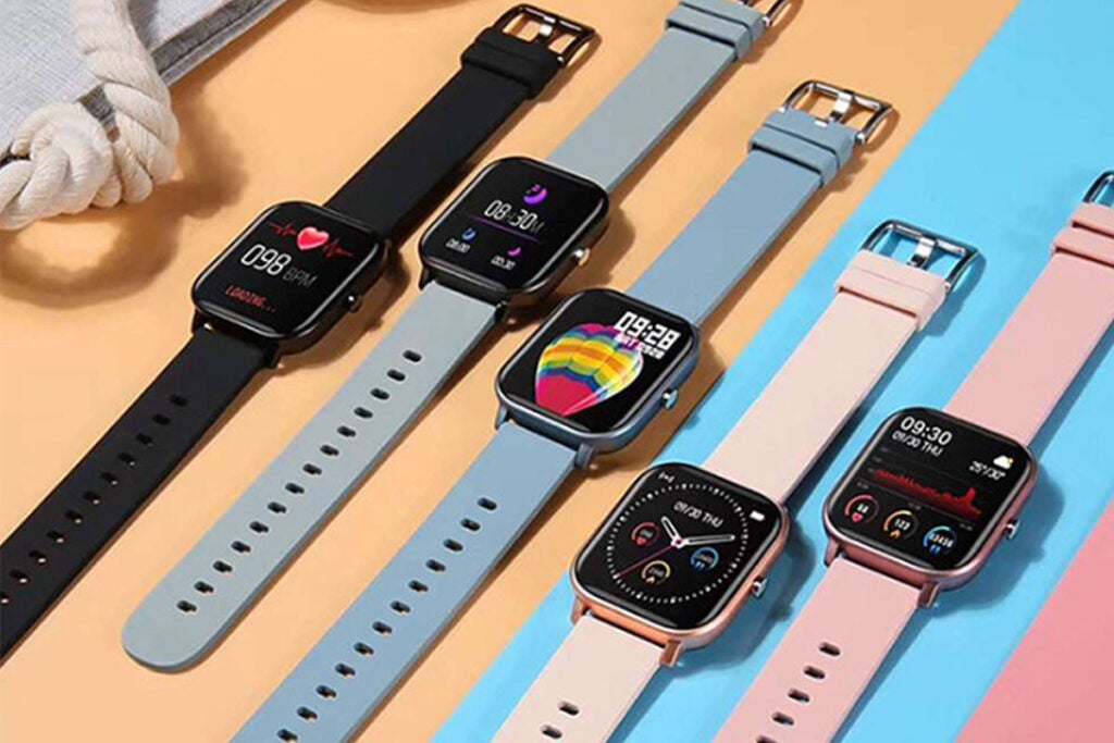 Metallic Smart Watch with Health & Activity Tracker