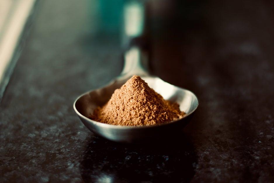 powder in a spoon