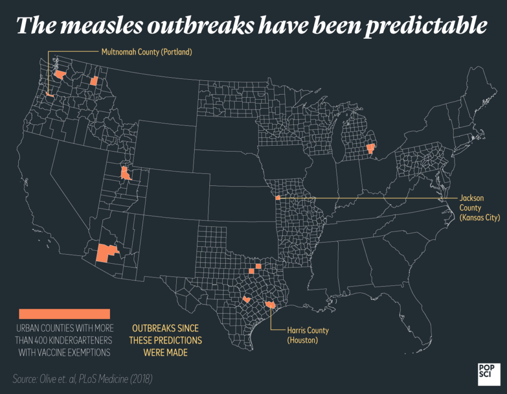 measles outbreak predictions map
