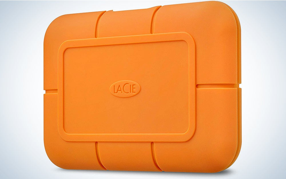 LaCie Rugged SSD 1TB Solid State Drive — USB-C USB 3.0, Drop Shock Dust Water Resistant