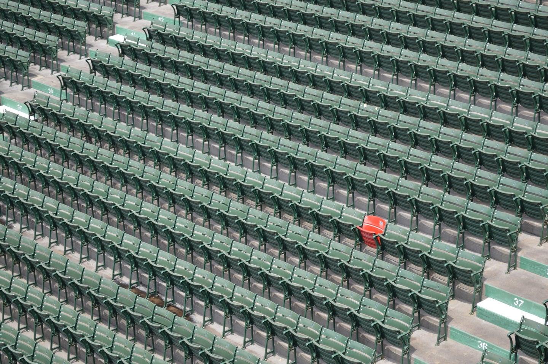 An empty Fenway Stadium