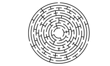 This maze has three solutions. Can you solve them all?
