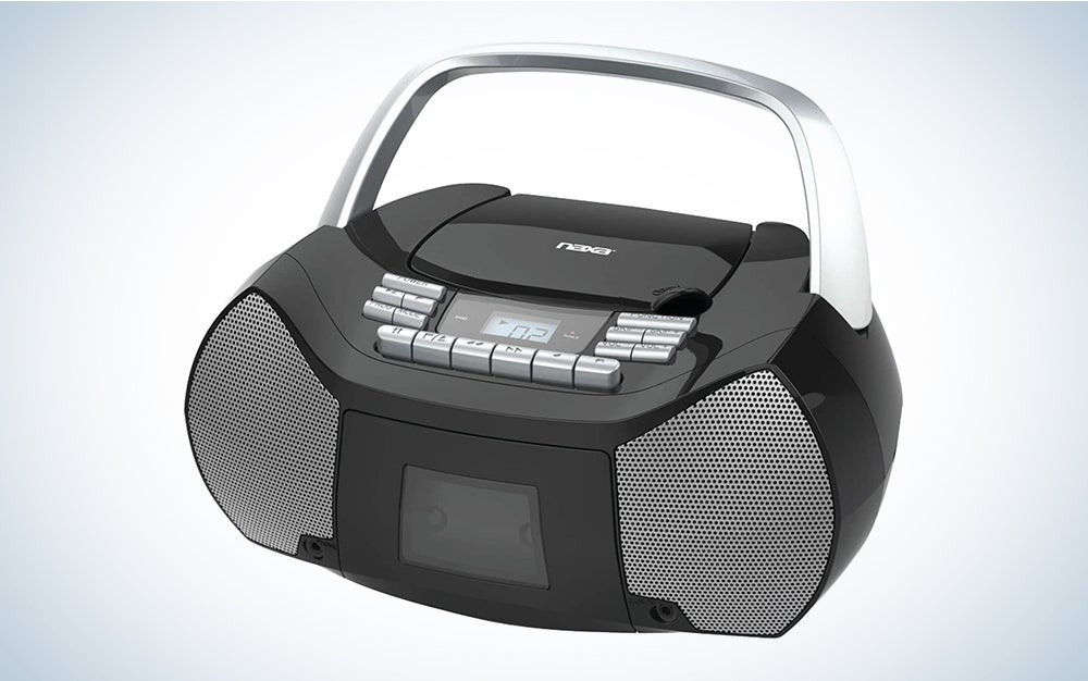 NAXA Electronics NPB-268 Portable CD/Cassette Boombox