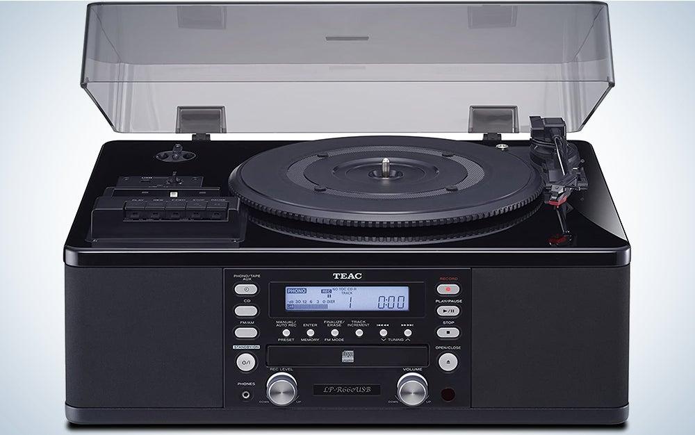Teac LPR660USBPB LP-Cassette to CD Recorder/USB Home Theater Receiver