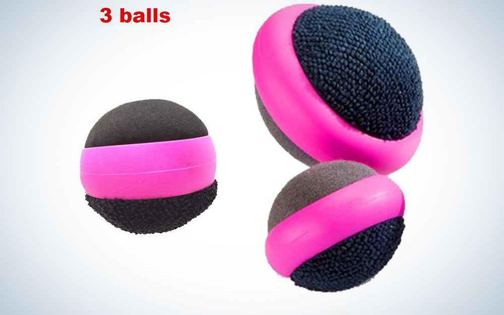 Summaxi 3 Pack Dual Action Touch Screen Glass Cleaner Cleaning Ball